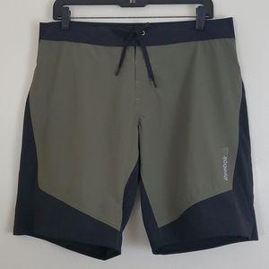 Reebok Khaki & Black Swim Shorts M